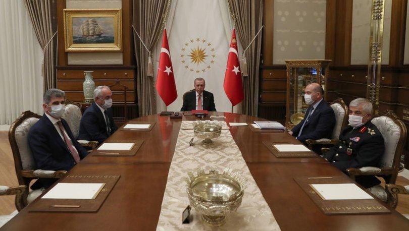 Cumhurbaşkanı Erdoğan, İçişleri Bakanı Soylu ve beraberindekileri kabul etti