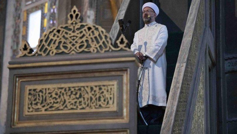 Diyanet İşleri Başkanı Erbaş Ayasofya Camii'nde bayram namazı kıldıracak