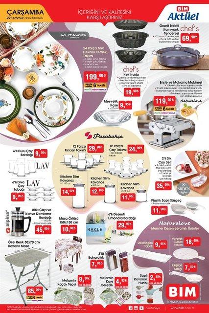 BİM aktüel ürünler kataloğu! BİM katalog ürünleri 31 Temmuz 2020 Cuma yerine 29 Temmuz'da satışa çıktı