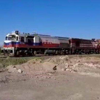 Çin'den yola çıkan 5. blok tren Türkiye'ye ulaştı