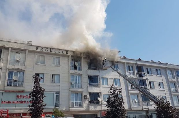 Esenyurt'ta yangın! 4 kişi ölümden döndü!