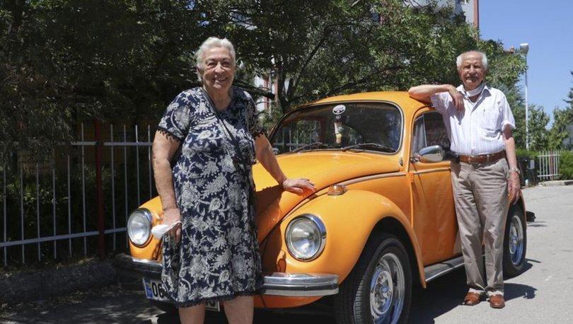Yaşlı çiftin 'Vosvos' tutkusu