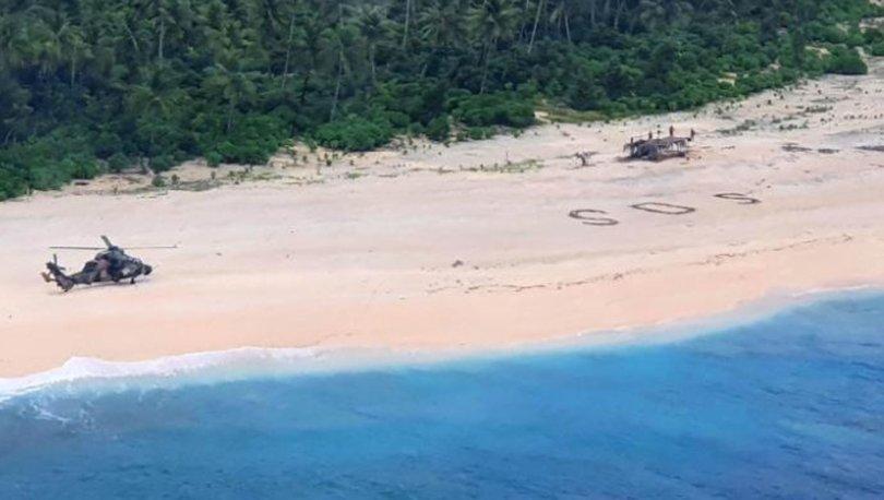Issız adadan kumsala yazdıkları mesajla kurtuldular!