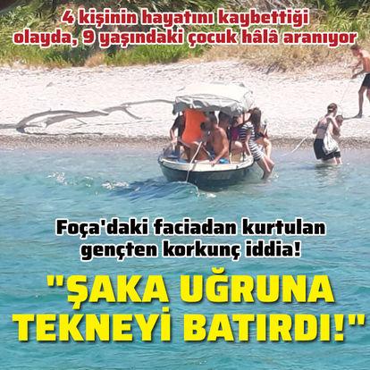 Tekne kazasından kurtulan gençten korkunç iddia!