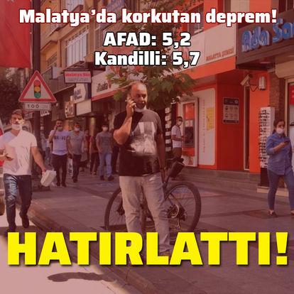 AFAD: Malatya'da 5,2 büyüklüğünde deprem!