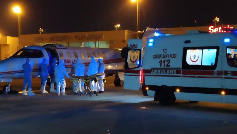 Rusya'daki Kovid-19 hastası Türk vatandaşı ambulans uçakla Türkiye'ye getirildi - Haberler