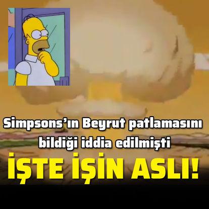 The Simpsons'ın Beyrut patlamasını tahmin ettiği iddia edilmişti...