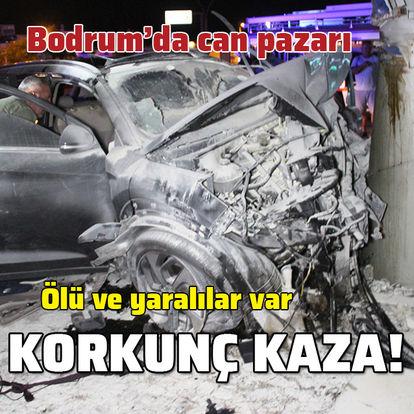 Bodrum'da korkunç kaza: 2 ölü, 3 yaralı