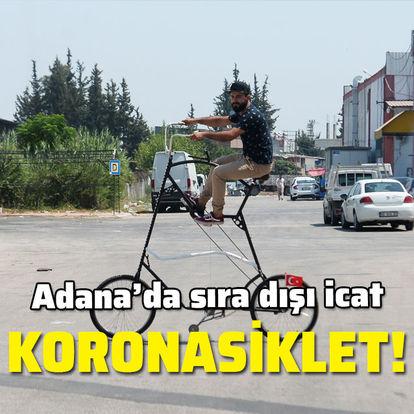 Adana'da sıra dışı icat! 'Koronasiklet'