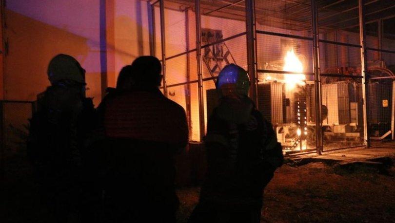 Denizli'de trafo yangını: 7 mahallede elektrik kesildi
