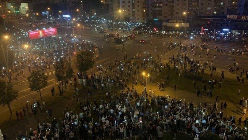 Belarus'ta seçim sonuçlarının ardından olaylar çıktı! Muhalifler sokaklara döküldü