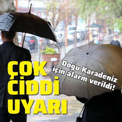 Doğu Karadeniz için sel ve yıldırım uyarısı!
