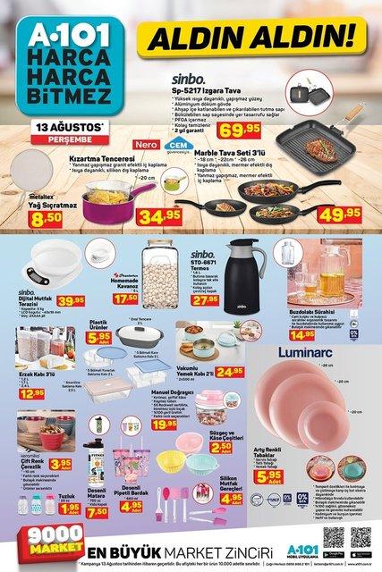 A101 BİM aktüel ürünler kataloğu 13 - 14 Ağustos 2020! İşte haftanın A101 BİM katalog ürünleri