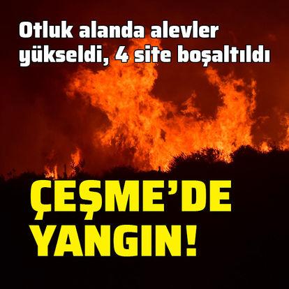 Çeşme'deki korkutan yangın kontrol altında!