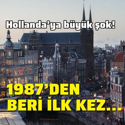 Hollanda'ya büyük şok! 1987'den beri ilk kez...