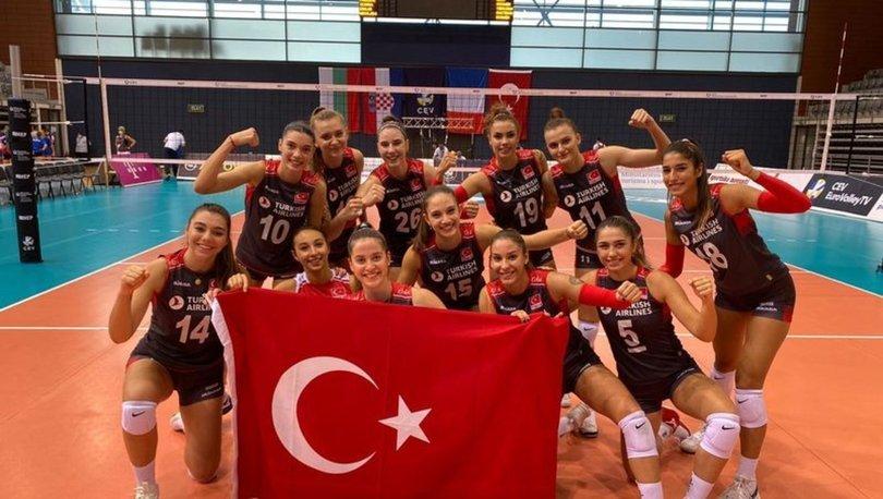 19 Yaş Altı Genç Kız Voleybol Milli Takımı, Avrupa Şampiyonası'nda yarı finalde