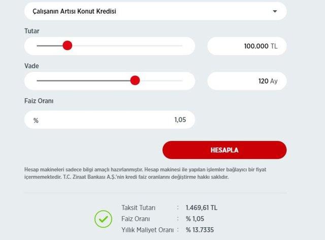 Konut kredisi faiz oranları hesaplama! Halkbank, Vakıfbank, Ziraat Bankası konut kredisi faiz oranları 2020