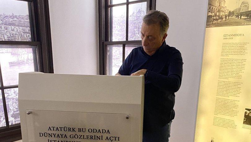 Beşiktaş Başkanı Çebi, Selanik'te Atatürk Evi Müzesi'ni ziyaret etti