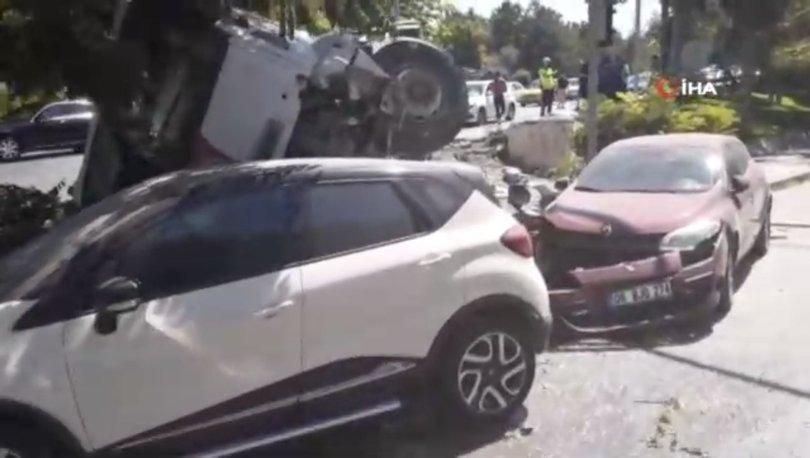 Ankara'da beton mikseri kontrolden çıktı, 2 aracı biçti - Haberler