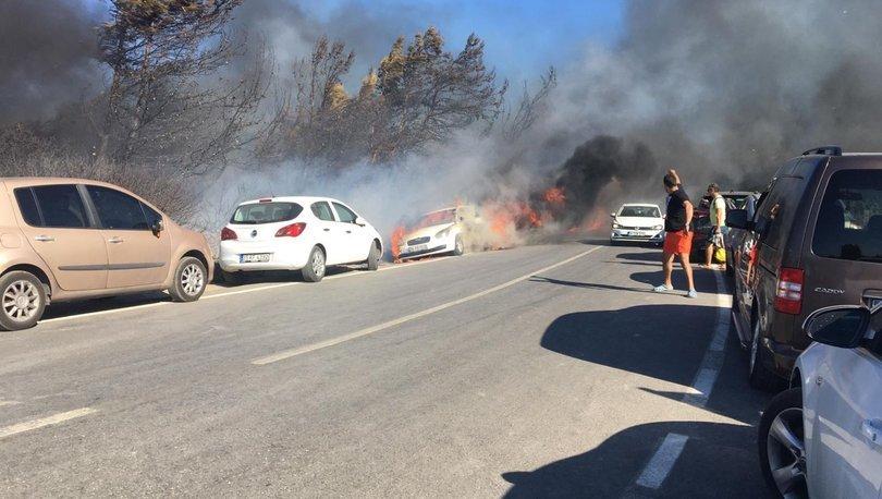 Son dakika haberler... İzmir'de 44 aracın hasar gördüğü orman yangınına sigara izmariti neden olmuş!
