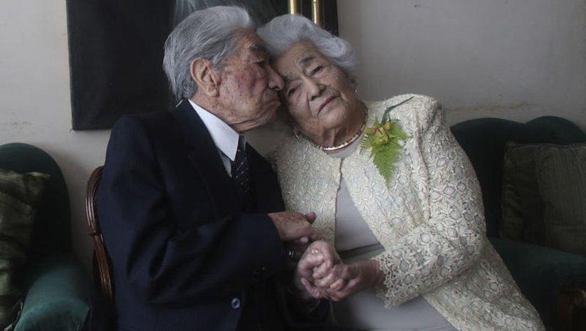 'Yaşayan en yaşlı evliler' olarak rekor kırdılar