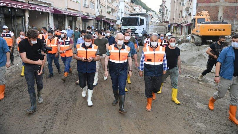Ulaştırma ve Altyapı Bakanı Adil Karaismailoğlu Giresun'da incelemelerde bulundu