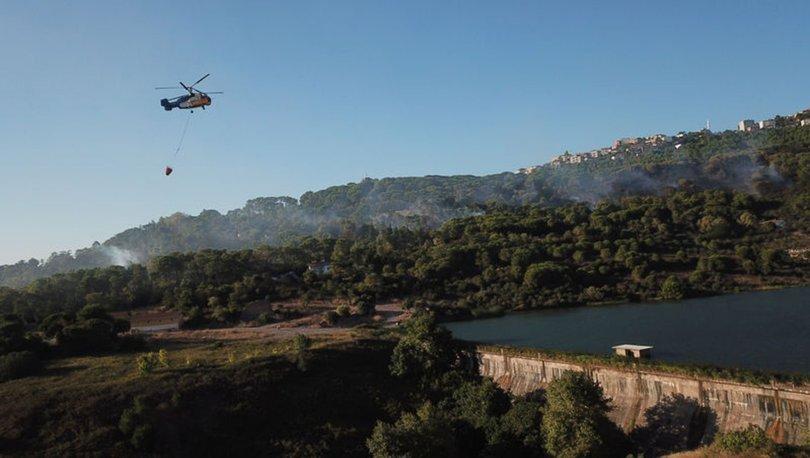 İstanbul'un Maltepe ilçesinde dün söndürülen yangın bugün yeniden başladı