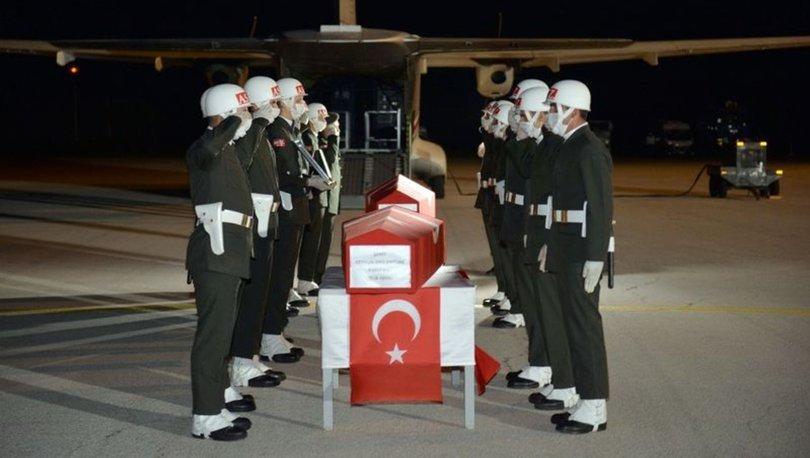 Şehit Uzman Çavuş Ceyhun Arslantürk'ün naaşı memleketi Orduya getirildi