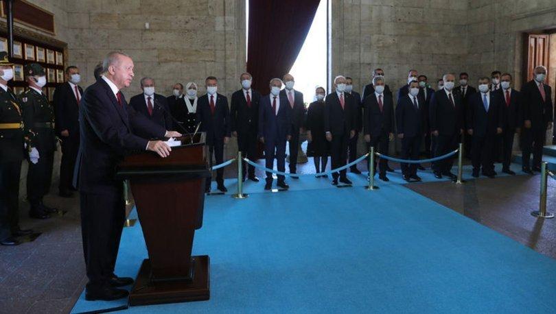 Son dakika! 30 Ağustos Zafer Bayramı dolayısıyla Devlet Erkanı Anıtkabir'de - Haberler