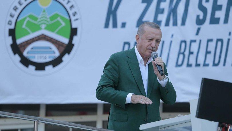 Son dakika haberi Cumhurbaşkanı Erdoğan'dan, Giresun'da önemli açıklamalar