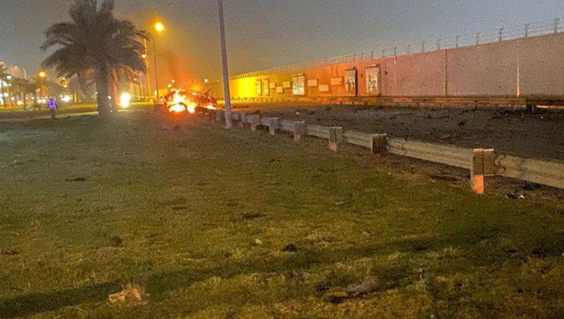 Irak'ın başkenti Bağdat'taki Uluslararası Havalimanı'na 3 katyuşa füzesi düştü