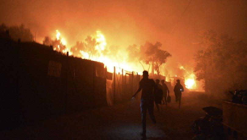 Yunanistan'daki sığınmacı kampında iki günde üçüncü yangın!