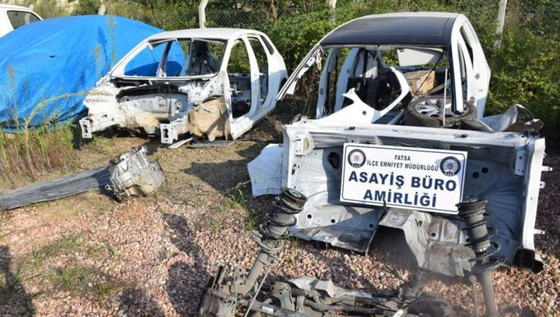 Ordu'da çalıntı araç parçalayıp satan şüpheliler yakalandı