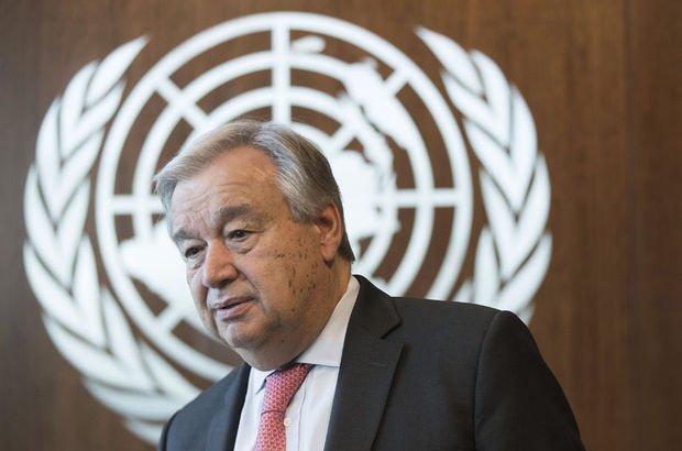 Guterres'ten Kıbrıs açıklaması