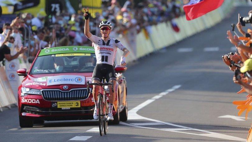 Fransa Bisiklet Turu'nda 19. etap Soren Kragh Andersen'in