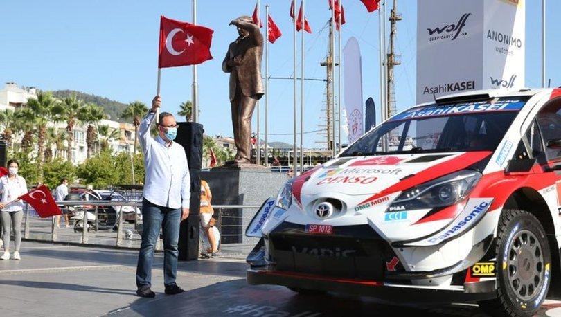 Dünya Ralli Şampiyonası'nın 5. yarışı Türkiye Rallisi'nin startını Bakan Kasapoğlu verdi