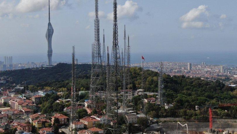 Çamlıca Tepesi'ndeki eski antenler
