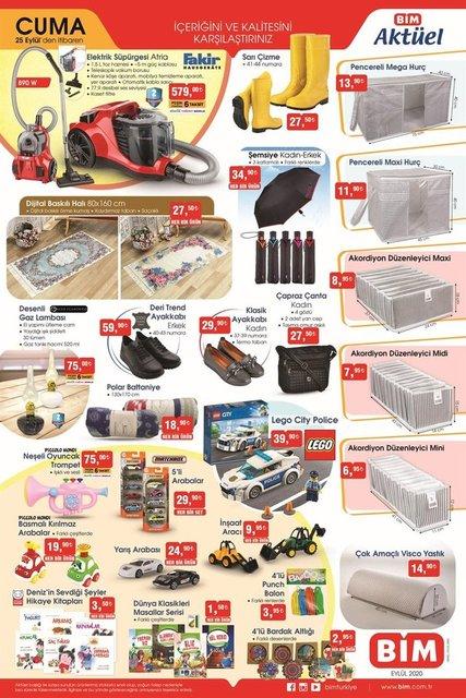 25 Eylül BİM Aktüel ürünler kataloğu! BİM indirimli ürünler tam listesineler var? BİM kataloğu