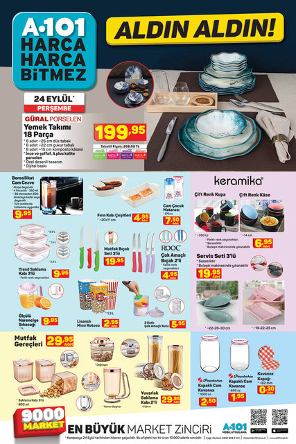 A101 24 Eylül 2020 aktüel ürünler kataloğu! A101'de bu hafta neler var? İşte katalog