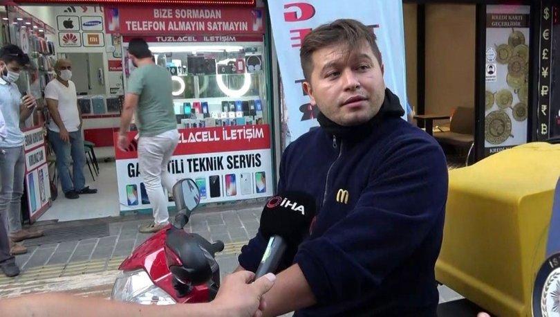 Tuzla'da maske kuryeden şahıs polisi tehdit etti