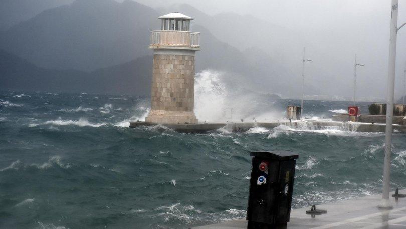 Son dakika haberler... Güney Ege için fırtına uyarısı