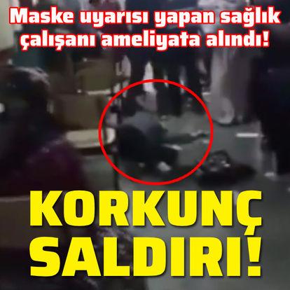 Maske uyarısı yapan sağlık çalışanını yaraladı!