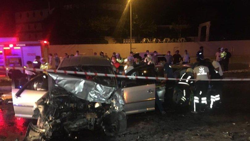 Denizli'de trafik kazası! 10 yaralı