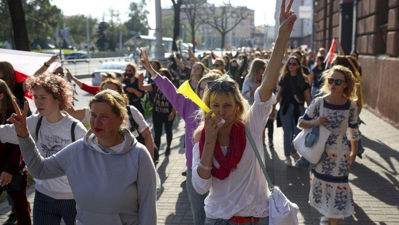 Son dakika haberi! Belarus'taki protestolarda 150 kişiye gözaltı