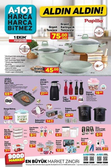 A101 BİM aktüel ürünler kataloğu! 1-2 Ekim A101 BİM aktüel ürünler kataloğu yayınlandı