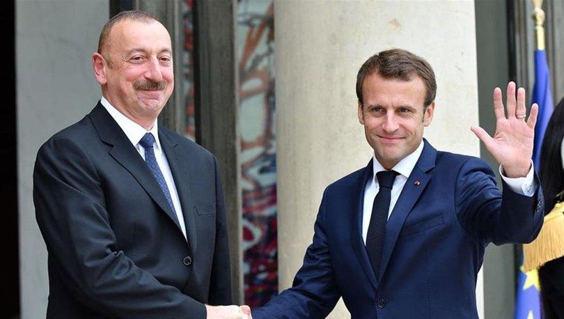 Aliyev ve Macron'da Karabağ görüşmesi!