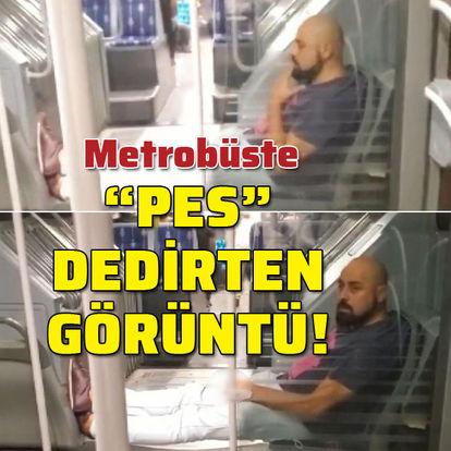 """Metrobüste """"Pes"""" dedirten görüntü!"""
