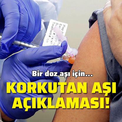 ABD'den korkutan aşı açıklaması!