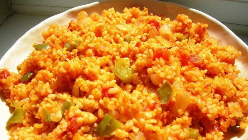 Sebzeli Bulgur Pilavı nasıl yapılır? Sebzeli Bulgur Pilavı tarifi ve malzemeleri