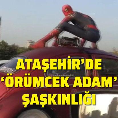 Ataşehir'de 'Örümcek Adam' şaşkınlığı